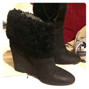New Burberry Black boots size 39.5